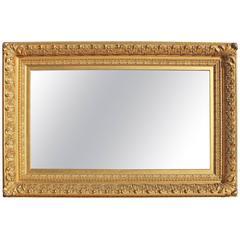 Gold Gilt 19th Century French Barbizon Style Mirror