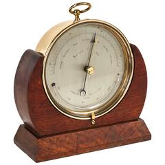 Brass Barometer in Mahogany Case