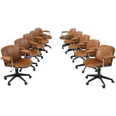 Ico Parisi Set of Ten Desk Chairs for MIM Roma
