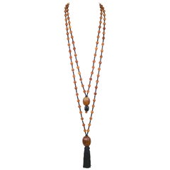Vintage Angela Caputi of Florence Tassel Necklace --Dramatic and Chic