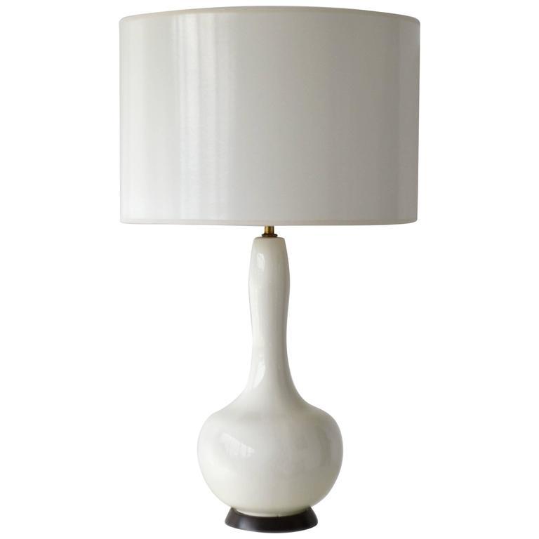 Mid-Century Blanc de Chine Ceramic Table Lamp