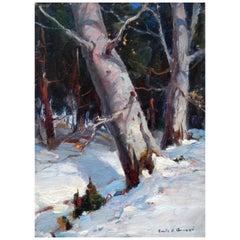 Emile Gruppe Oil Painting, Snow Scene