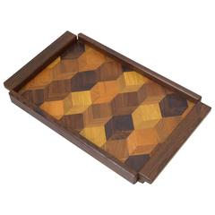 Don Shoemaker Marquetry Tray