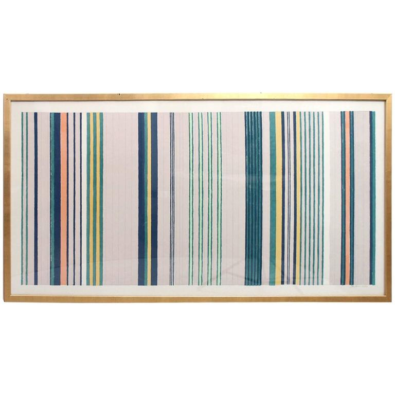 Large Silkscreen by Gene Davis For Sale