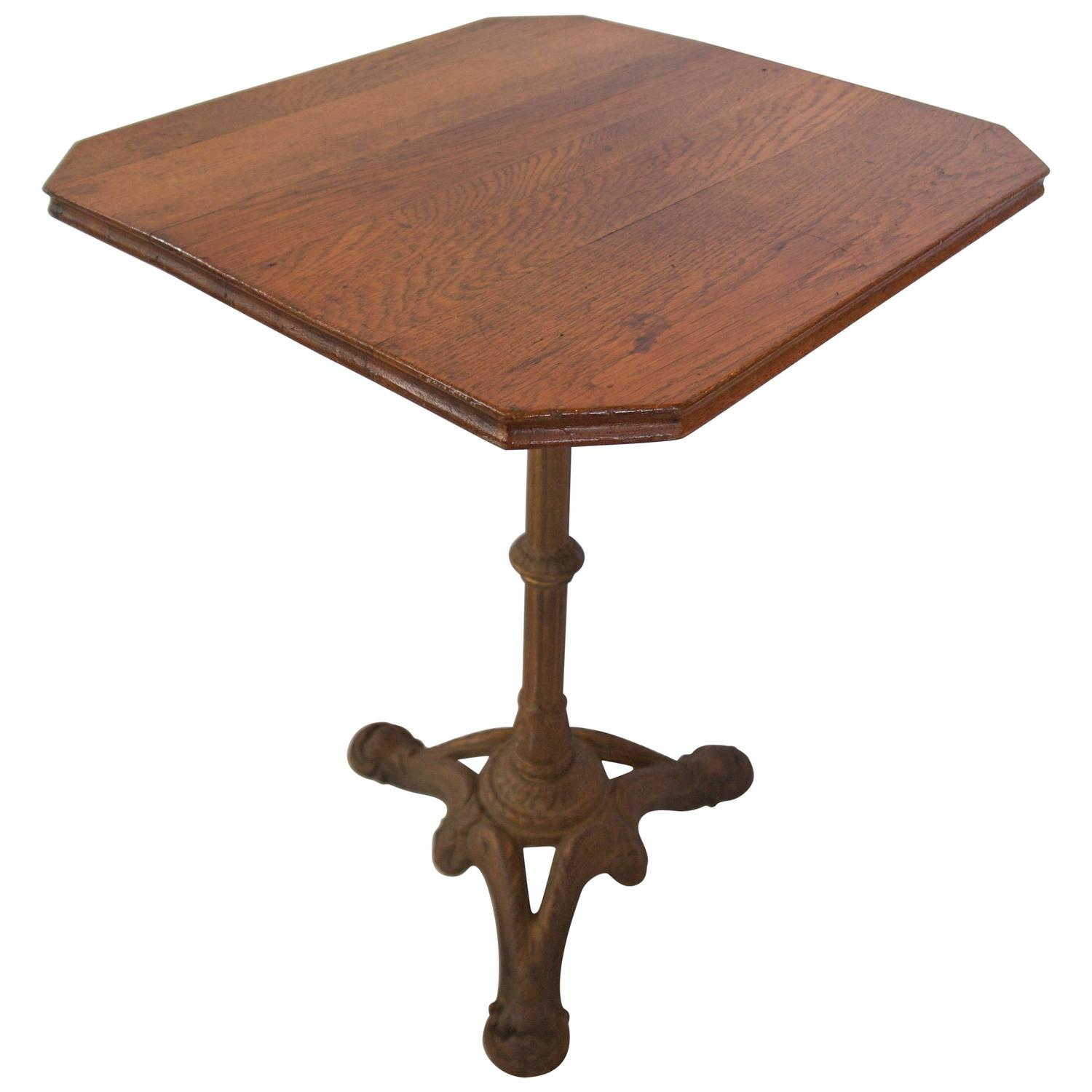 French Oak Top Bistro Table For Sale At 1stdibs