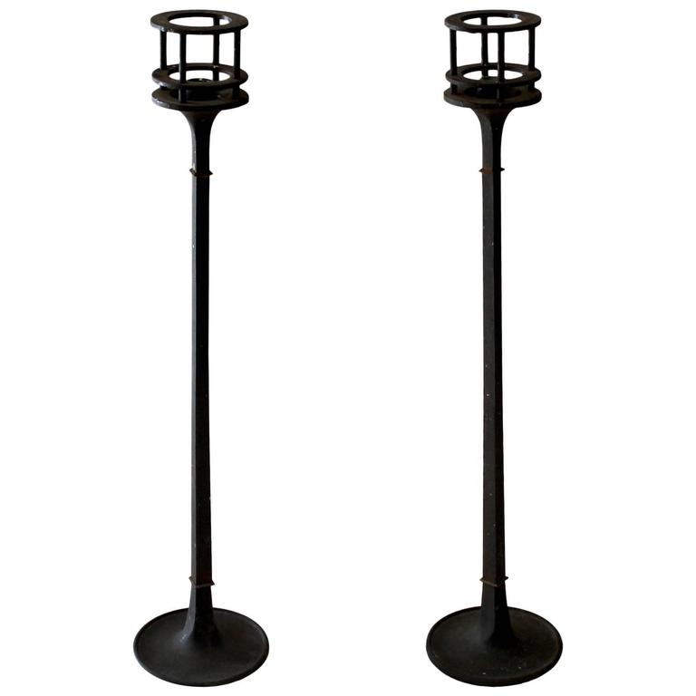 Pair of 1960s Iron Candlesticks by Jens Quistgaard for Dansk For Sale
