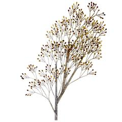 Curtis Jere Tree Brass Wall Sculpture