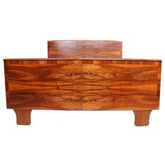 Italian Bed Frame with Exotic Wood