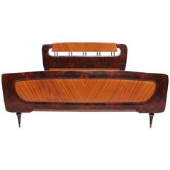 Mid Century Italian Modern attributed to Borsani Bed Frame