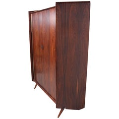 Magnificent Rosewood Armoire Gentleman's Cabinet by Pablo Romo for Ambianic