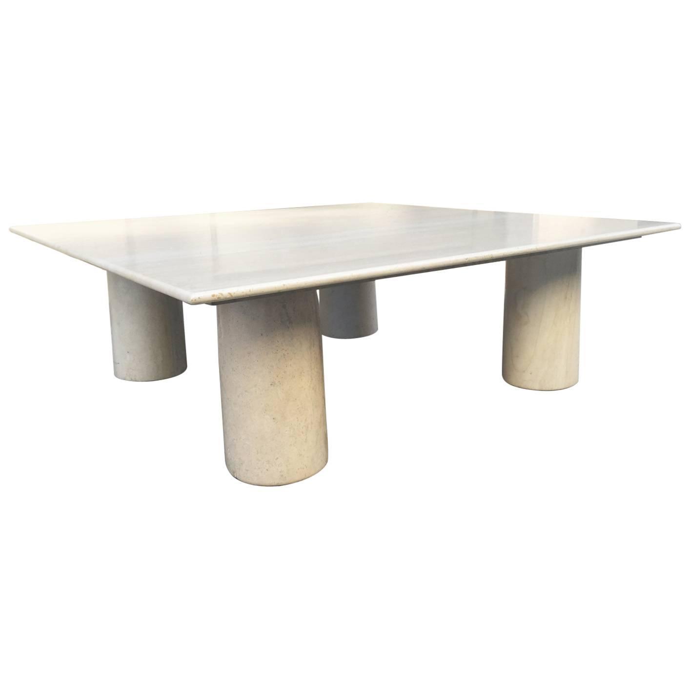 Mario Bellini Italian Marble Coffee Table For Sale at 1stdibs
