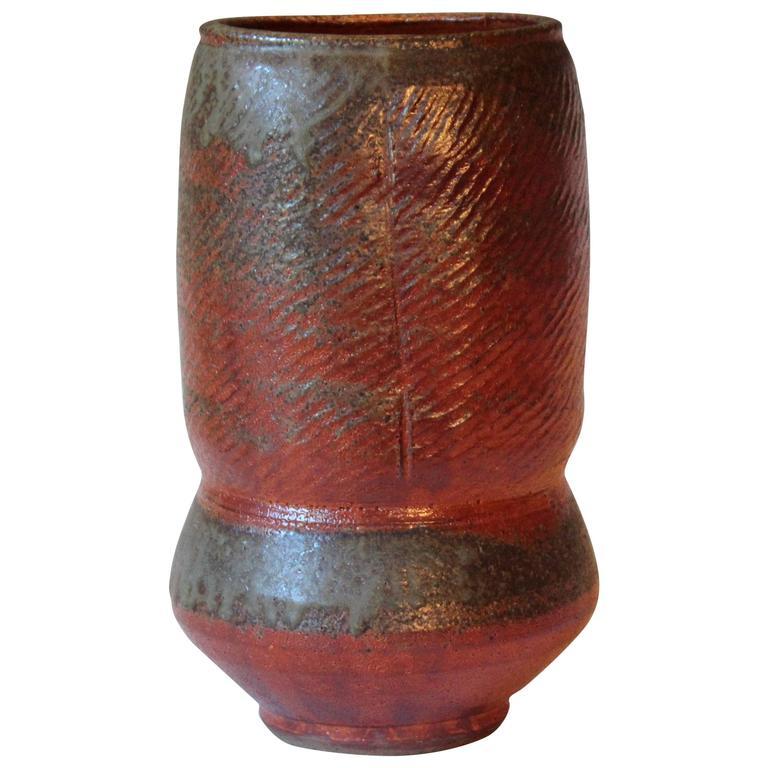 Vintage Shino Ware Signed Japanese Tea Ceremony Pottery Ikebana