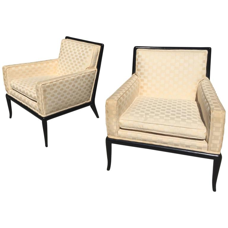 Pair of Th Robsjohn-Gibbings Club Chairs For Sale
