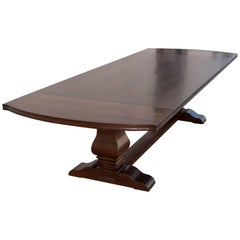 Expandable Dining Table in Rift-Sawn Oak, Custom Made by Petersen Antiques