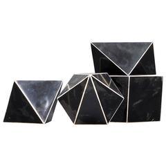 Rare 1930s Bauhaus Era Mineralogy Crystal Models