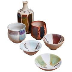 Rolf Palm Experimental Ceramic Set of Six Pieces, Sweden, 1990s