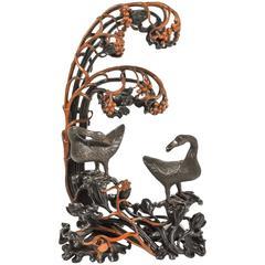 Meiji Bronze Ducks