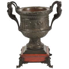 Classical Bronze Urn, 19th Century