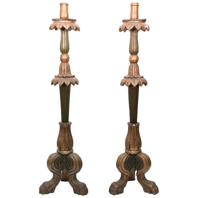 Pair of 19th Century Italian Candle Stands