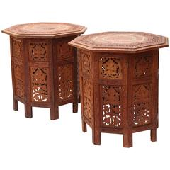 Pair of Anglo-Indian Travel Tables