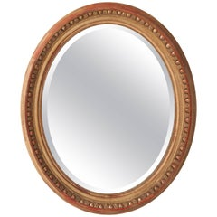 French 19th Century Oval Giltwood Mirror