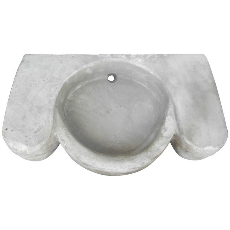 Antique Stone Sink from the Chateau De Saint Christol in the 17th Century 1