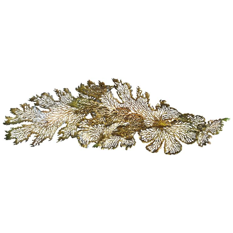 Gold and Bronze Leaf Iron Wall Sculpture