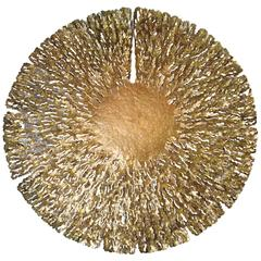 Bronze and Gold Iron Seaweed Wall Sculpture