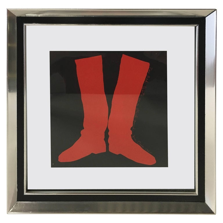"""Jim Dine """"Two Boots"""" Silkscreen, 1968 For Sale"""