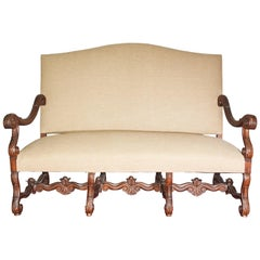 19th Century French Baroque Camelback Throne Settee