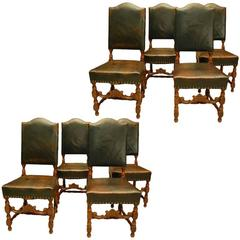 Set Of Eight Renaissance Revival Dining Chairs