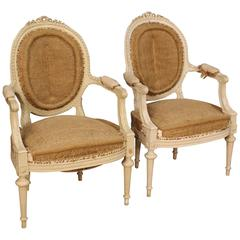 20th Century Pair of French Armchairs in Louis XVI Style