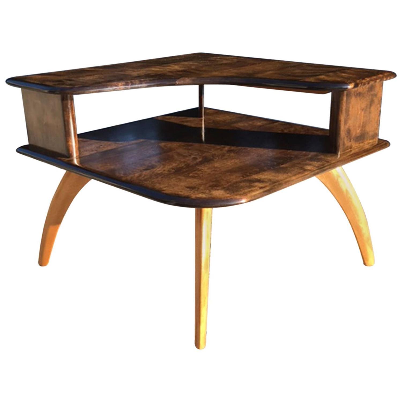 Heywood Wakefield Corner Table with Atomic Legs at 1stdibs