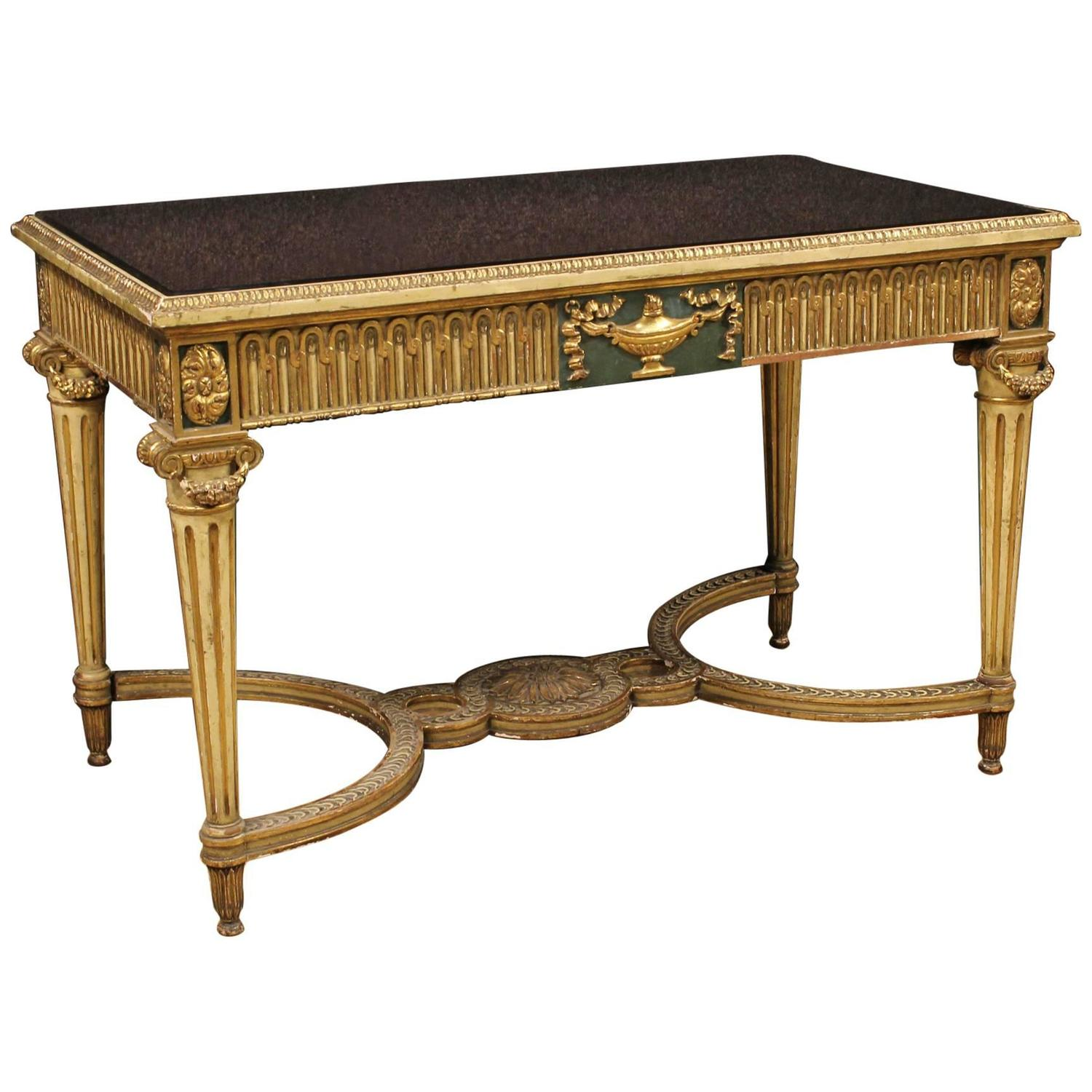 20th century italian coffee table in louis xvi style at 1stdibs. Black Bedroom Furniture Sets. Home Design Ideas