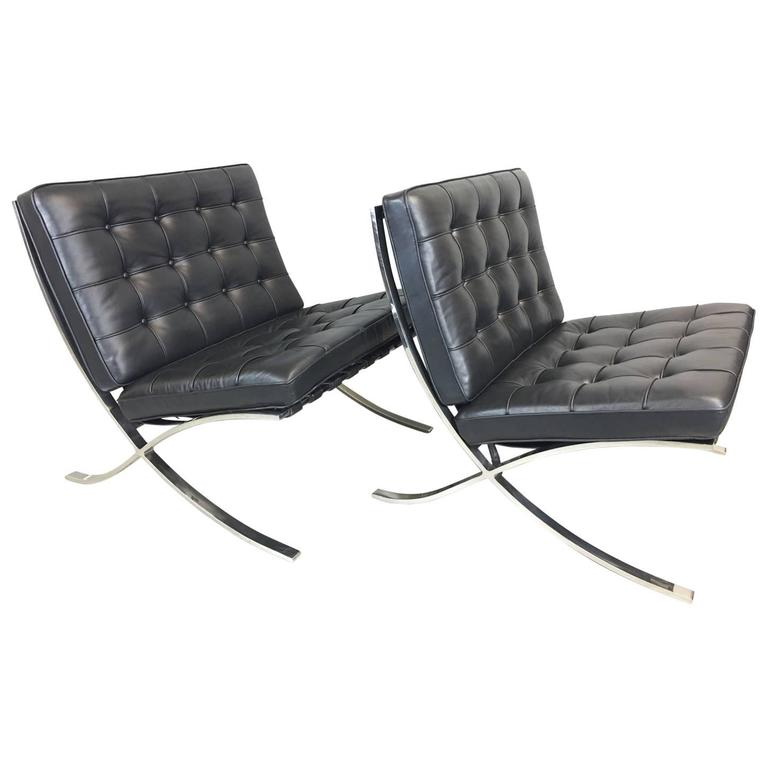 Barcelona Lounge Chair by Mies van der Rohe For Sale at 1stdibs