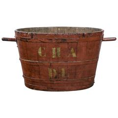 French Grape Harvesting Bucket, circa 1900