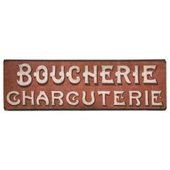 Advertising Sign 'Boucherie Charcuterie,' France, circa 1900