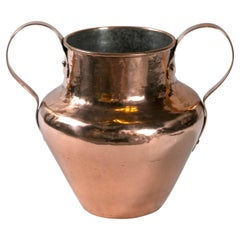 Antique Dovetailed Copper Urn, Late 19th Century