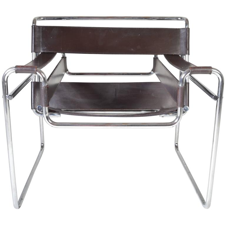 vintage 1960s wassily chair by marcel breuer for gavina italy at 1stdibs. Black Bedroom Furniture Sets. Home Design Ideas