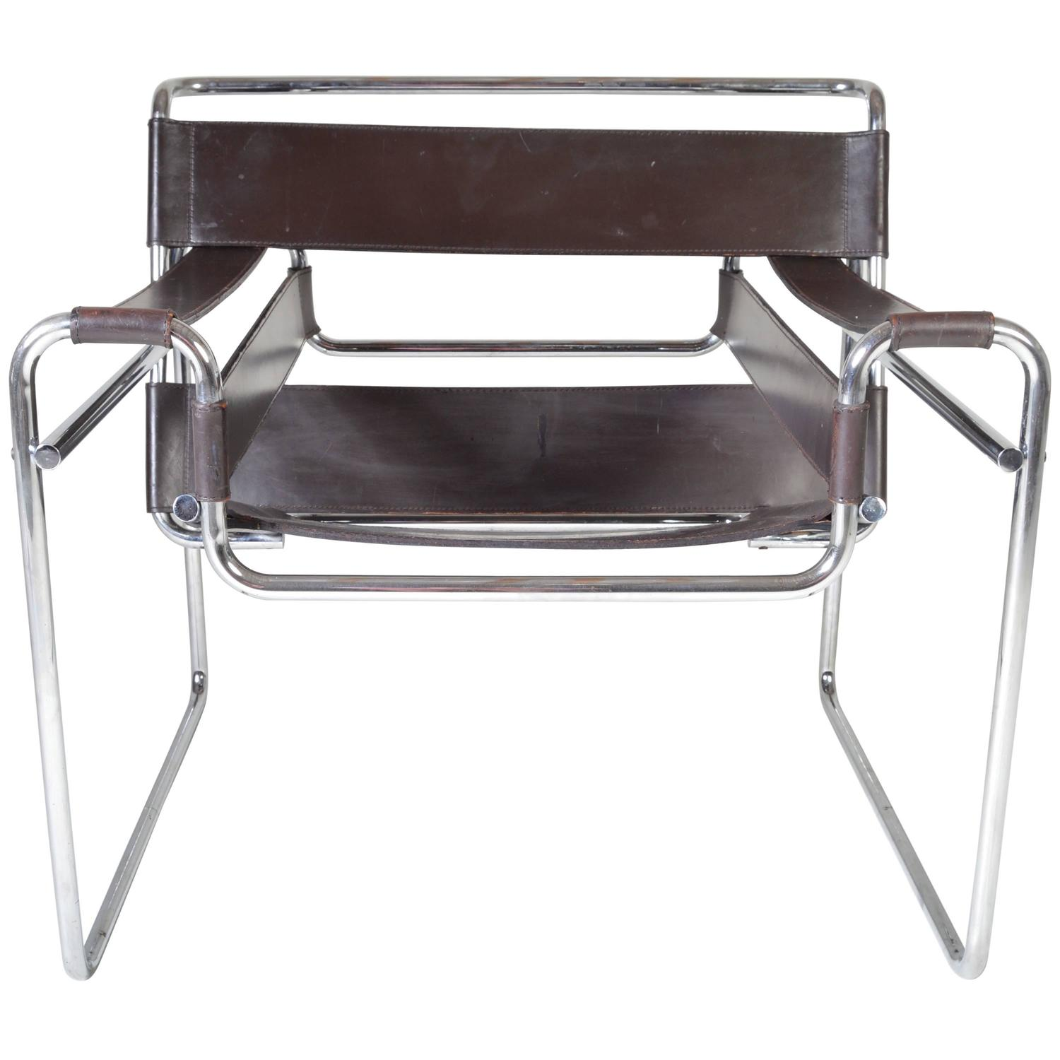 Vintage 1960s Wassily Chair by Marcel Breuer for Gavina Italy at