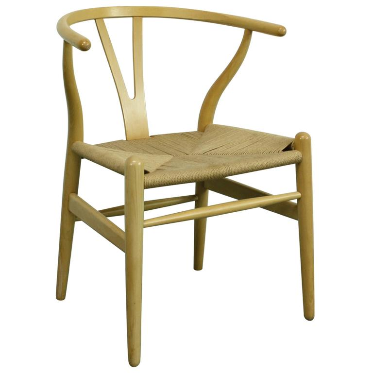 vintage hans wegner wishbone y chair in ash for sale at 1stdibs. Black Bedroom Furniture Sets. Home Design Ideas