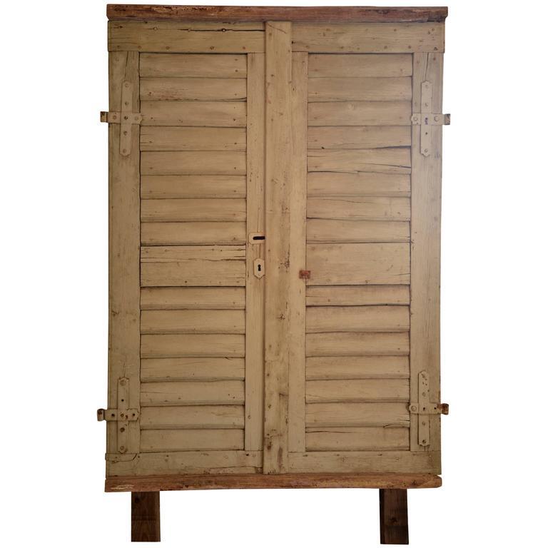 Antique Door Panel with Original Hardware