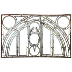 Antique Iron Balcony Panel, circa 1910