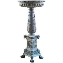 Late 19th Century Bronze Birdbath Urn
