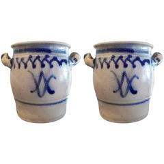 Pair of 19th Century French Confit Pots