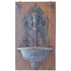 Antique Lead Garden Fountain