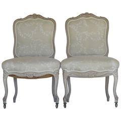 Pair of Antique French Side Chairs
