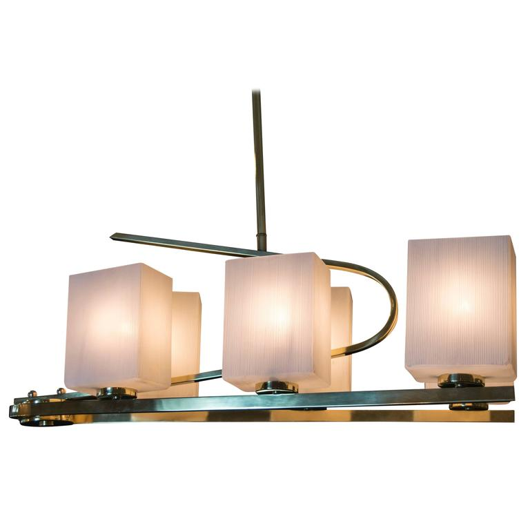 Mid-Century French Chandelier by Arlus