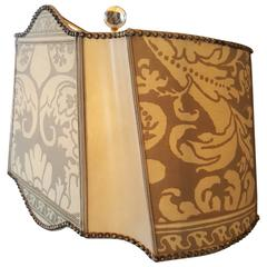 Handmade Lampshade in Vintage Fortuny
