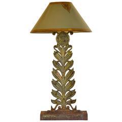 Repurposed Vintage Railing Fragment Lamp